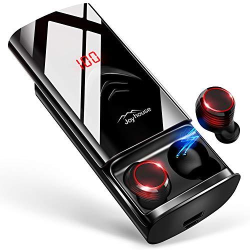 【2019革新デザイン 260時間再生 Bluetooth5.0+EDR搭載】 Bluetooth イヤホン LEDディスプレイ Hi-Fi 3Dステレオサウンド 6000mAh大容量充電ケース付き 完全ワイヤレス イヤホン 自動ペアリング 両耳 左右分離型 AAC8.0/CVC8.0ノイズキャンセリング対応 ブルートゥース イヤホン IPX7防水 音量調整 両耳通話 技適認証済/Siri対応/iPhone/iPad/Android対応