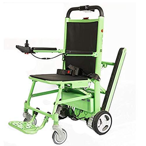 Stair Chair Silla de Escalera Silla de Ambulancia Plegable Silla de Ruedas eléctrica de Aluminio y Escalera elevadora Silla de Ruedas Silla de evacuación de Emergencia Ajustable en 3 Alturas