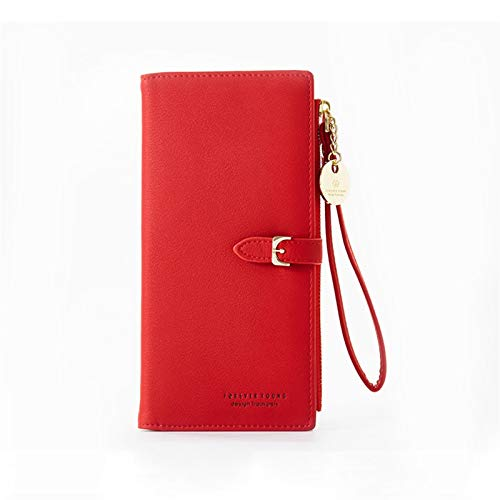 YUNLAN Pulsera damas largas billetera múltiples departamento de damas billetera embrague damas billetera con cremallera teléfono móvil titular de la tarjeta de la tarjeta de la tarjeta de la tarjeta C