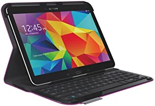 Logitech Ultrathin Keyboard Folio for Samsung Galaxy Tab 4-10.1 Inches - NOT for Tab A, NOT for Tab 2, will ONLY Fit Galaxy Tab 4-10.1 Inch Version ( -Purple)