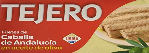 Tejero - Conserva de Pescado | Filetes de Caballa en Aceite de Oliva - 5 Latas x 120 g