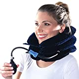 Cervical Neck Traction Device - Inflatable and Adjustable Cervical Traction - Neck Traction Device Will Help for Neck Stretcher and Support, Spine Alignment, Chiropractic Chronic Neck Pain Relief