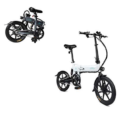 AIMADO Bicicletta Elettrica PIEGHEVOLE Mountain Bike 250 W 25 km/h Shimano 21 in Alluminio Batteria 36 V Luce Anteriore con 3 Livelli di Assistenza - Ruote Grandi 26 Pollici