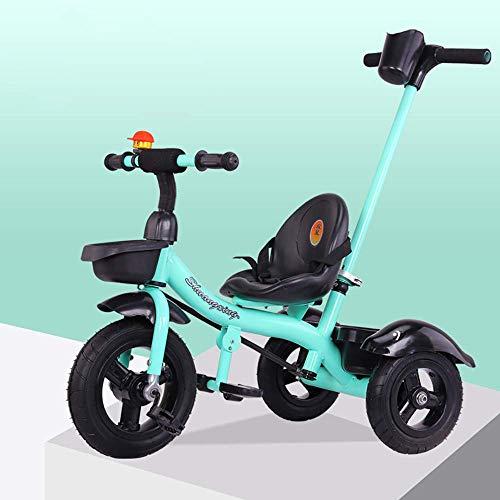 DYB Triciclo para niños, Triciclo de bebé 4 en 1, Cochecito Plegable, Triciclo para niños, Mango Desmontable, Pedales Antideslizantes, Marco de Metal, Triciclo para niños de 1 año a 6