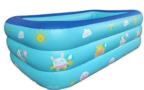 nobrand Wwceem Mink Kayak Rechteckiger aufblasbarer Schwimmhinterhof Innen- und Außenbereich Blau Weiß 120 * 90 * 33 cm Blauer Pool Geeignet für Erwachsene und Kinder Gartenhaus