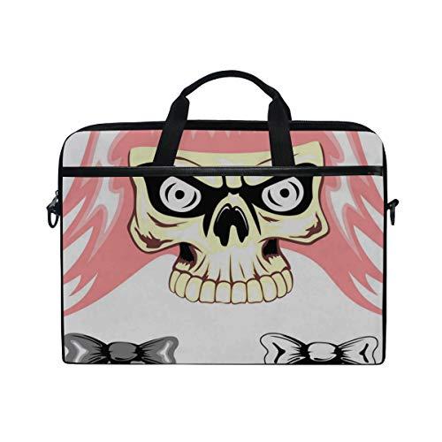 Laptop Bag Skull Emo Dwa Vector 15-15.4 Inch Laptop Case, Briefcase Messenger Shoulder Bag for Men Women, College Students Business People Office Wor