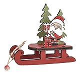 EMFGJ - Decorazione natalizia con slitta di Babbo Natale, decorazione da tavolo in legno, decorazione natalizia per la casa, festa di Babbo Natale