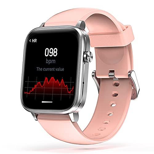 LSQ 2021 Originale H7 Smart Watch Uomo Bluetooth Chiamata Siri Voice Body Temperatura Temperatura Musica Gioca a Fai da Te Viso A Voce di Polso da Uomo Polso da Uomo,Rosa