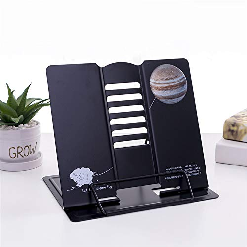Bhajan® Multi-Function Metal Reading Book Stand Document Holder Bookend Holder with All Page Paper Clips Smartphones And Foldable Tablet or Desktop Stands - (Different Design)