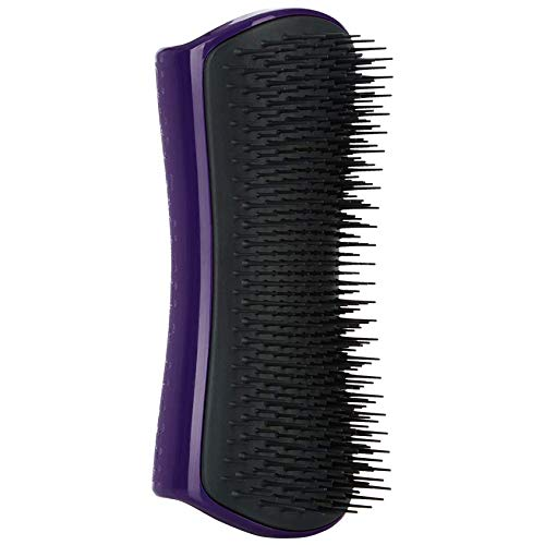 Pet Teezer, De-Shedding and Dog Grooming Brush, Purple And Grey
