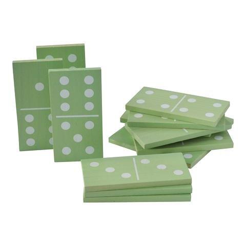 Traditional Garden Games 119 - Domino da giardino, in legno, colore: menta con pois bianchi