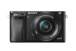 """Fotocamera digitale Mirrorless Sony con sensore APS-C CMOR Exmor 24.3 megapixel Kit con obiettivo SEL 16-50 mm Mirino OLED Tru-Finder ad alta risoluzione Processore di immagini BIONZ X, 179 punti Eye AF Flash integrato, display 3"""" LCD inclinabile 180..."""