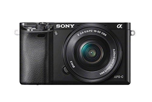 Sony ILCE6000LB Appareil Photo Numérique Hybride Capteur APSC 24,3 Mpix Autofocus ultrarapide + objectif 1650 mm rétractable noir