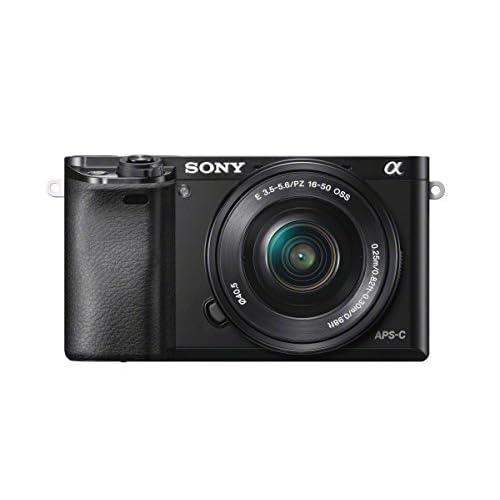 Sony Alpha 6000L Kit Fotocamera Digitale Mirrorless con Obiettivo Intercambiabile SELP 16-50 mm, Sensore APS-C, Video AVCHD, Eye AF, ILCE6000B + SELP1650, Nero