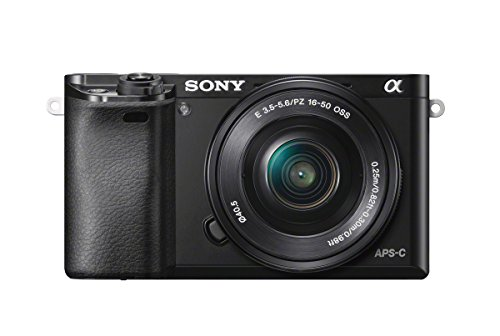 Sony Alpha 6000 | Fotocamera Digitale Mirrorless con Obiettivo Intercambiabile SELP 16-50mm, Sensore APS-C, Video AVCHD, Eye AF, ILCE6000B + SELP1650, Nero