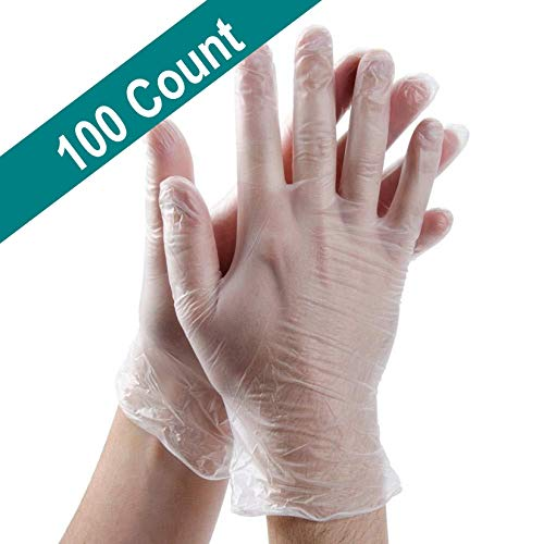 PROCTEX Clear Vinyl Food Gloves | 4 Mil Thick | Ideal for Food Prep and Cleaning Service | Disposable Gloves...