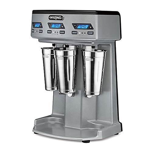 Waring Commercial WDM3600TX Heavy-Duty Triple Spindle Drink Mixer, Each Spindle Has Independent 1hp...