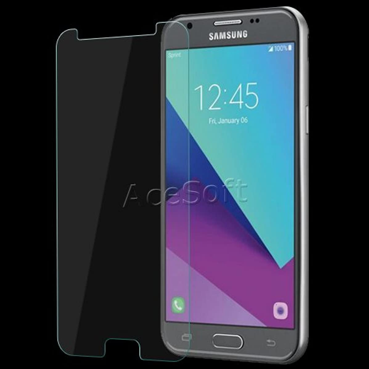 100% New Ultra-Clear Anti-Scratch Durable Tempered Glass Screen Protector Film Guard Shield Saver Armor Cover for Samsung Galaxy J3 Mission SM-J327V Verizon