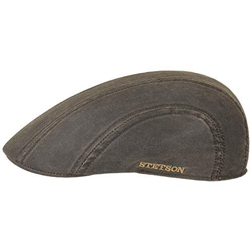Stetson Madison Old Cotton Flatcap Herren - Schiebermütze mit Schurwolle - Herrenmütze Wasserabweisend - Schirmmütze mit UV-Schutz (Schirmlänge 5 cm) - Sommer/Winter braun XXL (62-63 cm)