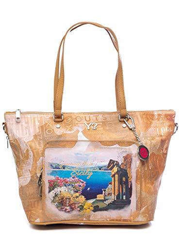 YNOT BORSA DONNA fun shopping bag zip medium Sicily J-496 .Sici