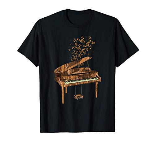 Regalo Pianista Instrumento Musical Notas De Música Piano Camiseta