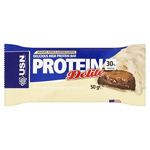 USN 50 g Yoghurt/Toffee and Almond Protein Delite Bar