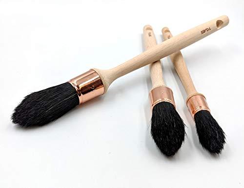Harris T-Class Runde Schrägpinsel - Pinsel für schwer zugängliche Stellen mit gemischten Naturborsten in 3 Größen, für alle Dekorationen