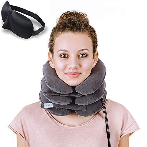 Cervical Neck Traction Device by Davismart, Inflatable Collar Brace, Adjustable Neck Stretcher, Neck...