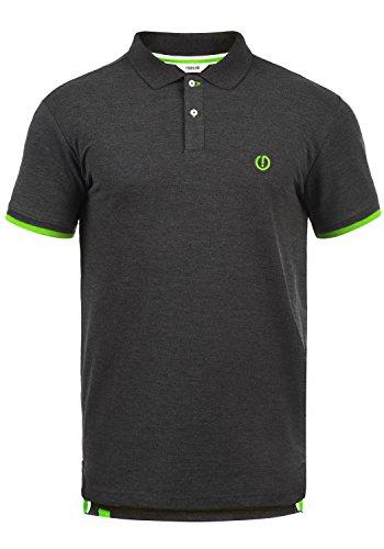 !Solid BenjaminPolo Herren Poloshirt Polohemd T-Shirt Shirt Mit Polokragen, Größe:L, Farbe:Dark Grey Melange (8288)