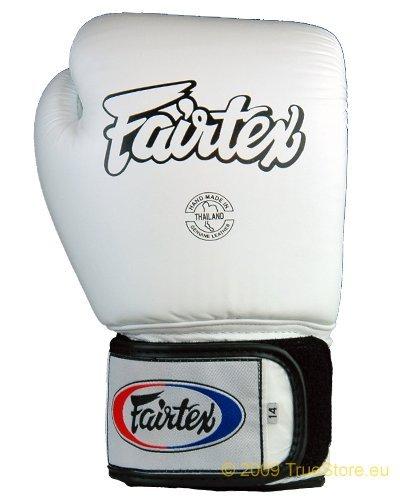 Fairtex Muay Thai Bokshandschoenen BGV1 Kleur: Zwart Blauw Rood Geel Wit Maat : 10 12 14 16 oz. Training Sparring Handschoenen voor Kick boksen MMA K1
