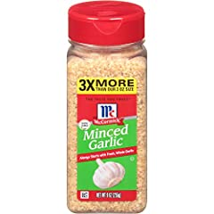 Made from fresh, whole garlic cloves that have been dried and minced McCormick Minced Garlic has a smoother, mellower flavor than raw garlic Use in any dish that calls for fresh garlic Use 1/4 tsp. minced garlic in place of 1 clove of fresh garlic No...