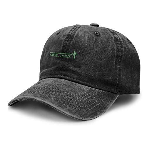 90ioup Annnd I'm Back Adult Cowboy Hat Classic Baseball Cap Snapback Cap