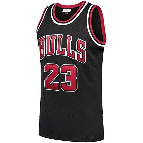 Michael Jordan #23, Camiseta De Baloncesto NBA para Hombre, Retro Jersey Swingman Basketball Camisetas, Chaleco De Gimnasia Top Deportivo Ropa, S-XXL, Z485MK (Color : White, Size : L)