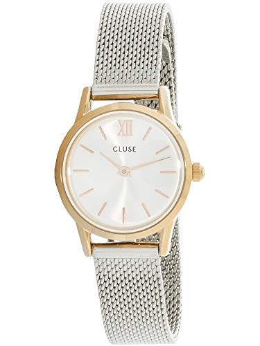 Cluse Unisex Erwachsene Digital Quarz Uhr mit Edelstahl Armband CL50024