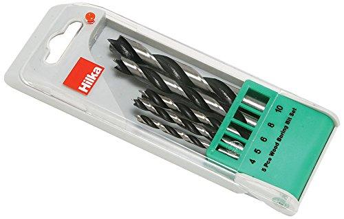 Hilka 49902005 Wood Boring Drill Bit Set, Set of 5 Pieces