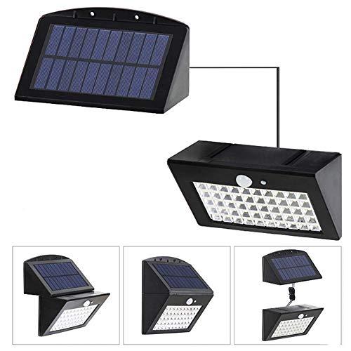 2 pakketten 50-inch buitenwandlampen op zonne-energie, hoge kwaliteit, energiebesparend, 3 installatiemethoden, 3 standen, met afneembaar paneel