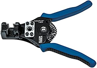 Klein Tools 11063W Wire Cutter / Wire Stripper, Heavy Duty Wire Stripper Tool for 8-20 AWG Solid and 10-22 AWG Stranded Electrical Wire