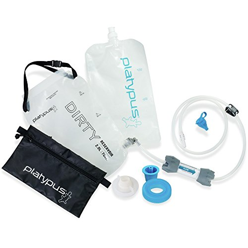 Platypus GravityWorks 2.0 Liter Complete Water Filter Kit for Camping and Backpacking, Compatible with Hydration Bladders and Water Bottles