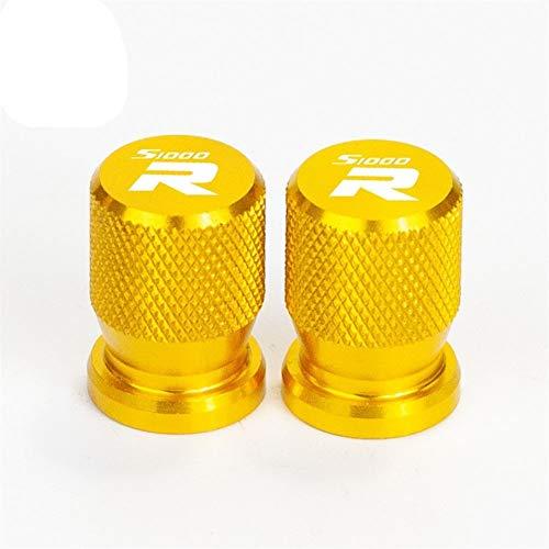 Motorrad-Zubehör Rad-Reifen-Ventilkappen aus Aluminium Airtight Abdeckungen for S1000R S1000RR S1000XR (Color : Gold S1000R)