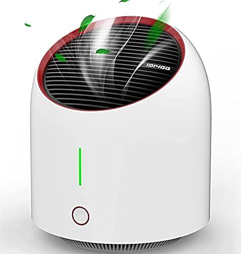 Luftreiniger Air Purifier mit Aktivkohlefilter,Leise Air Purifier für 99,97{ce38022242819d67a083ba4f0abfbd65f19ab3d28e043c562f11b0e0db162619} Filterleistung,Luftreiniger Allergie für Raucherzimmer Wohung,Tragbarer Luftreiniger Gegen Staub,Rauch,Pollen Tierhaare