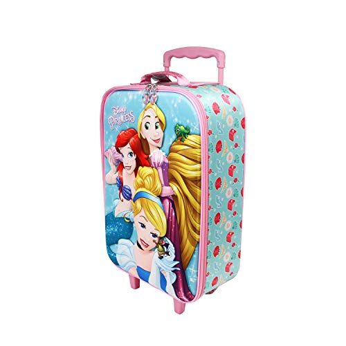 Karactermania Princesas Disney Beautiful - Maleta Trolley Soft 3D, Multicolor, Un tamaño