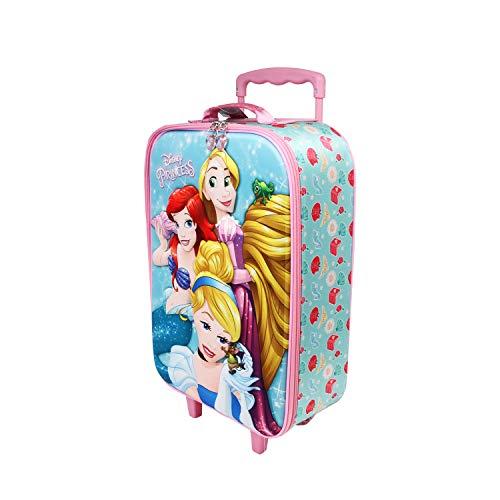 KARACTERMANIA Disney Princess Beautiful-Soft 3D Trolley Suitcase, Multicolour, One Size