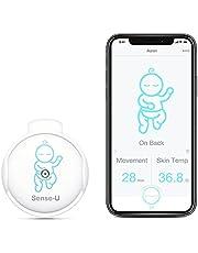 (2020 nowy model) Sense-U Baby Monitor z oddychającym ruchem i czujnikami temperatury ciała: Śledź oddychanie dziecka, roller, temperatura ciała z nowym zapięciem