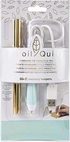 We R Memory Keepers Tip American Crafts Quill Freestyle Standard Pen, Gold Foil-DIY Crafting Tools, Punta Estándar