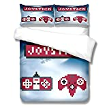 Kseyic Gamepad Juego de ropa de cama de 2/3 piezas, juego de cama con funda de almohada, funda de edredón para jóvenes...