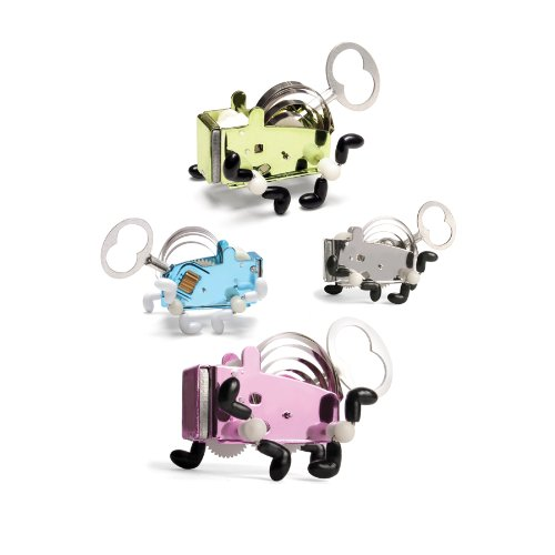 Kikkerland Pea Stainless Steel Wind Up Toy - Assorted