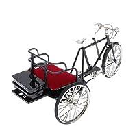 SM SunniMix 三輪車 モデル 自転車 ホビー 卓上置物 テーブルの飾り ミニチュア 自転車 バイク模型 1/6 合金製