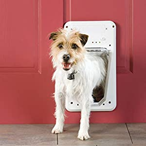 PetSafe Electronic SmartDoor – Collar Activated Dog and Cat Door – Small to Large Pets