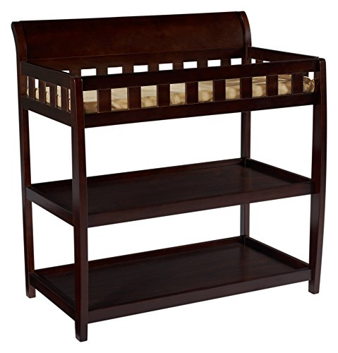 Delta Children Bentley Changing Table with Changing Pad, Chocolate