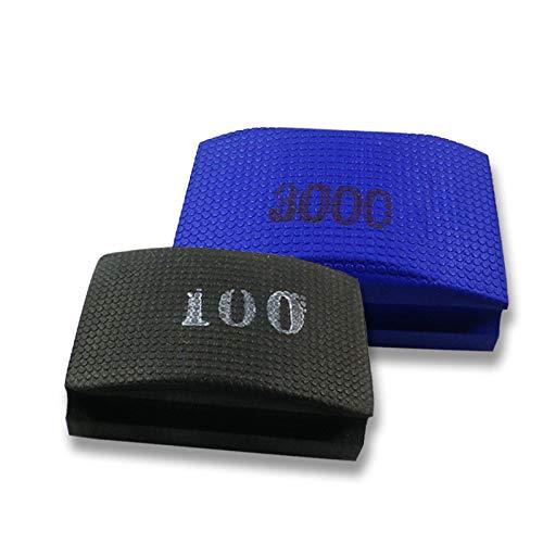 Originele EDW Duo Grof/Fijn | Handschuurpad/schuursponsset | korrelgroottes 100 & 3000 | slijpen, polijsten, ontbramen | schuurblokken voor tegels, fijnsteengoed, natuursteen, graniet, glas